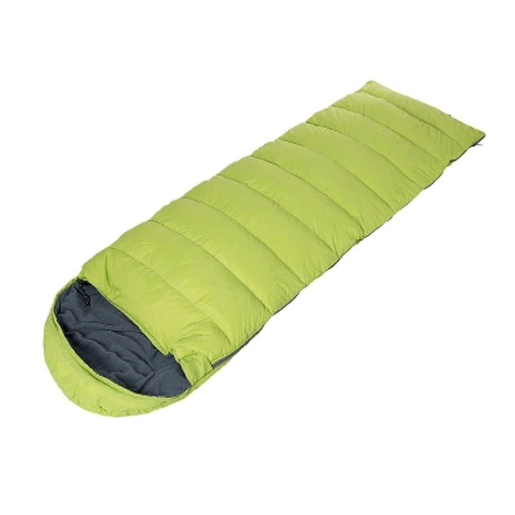 Fu Man Li Business フォーシーズンの大人は、超軽量のポータブル屋外寝袋で縫うことができます A+ B073182JPL  Lime green