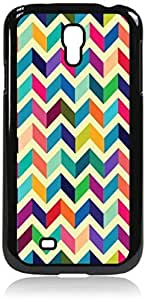 Colorful Matte Chevrons- Case for the Galaxy S4 i9500 -Hard Black Plastic Case BY RANDLE FRICK by heywan