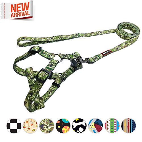 ess and Leash Set Durable No Pull Dog Basic Halter Harness for XXS XS Extra Small Puppy Breed Girl Boy 5-11lb Adjustable Chest:12-18inch Chihuahua Yorkie ()
