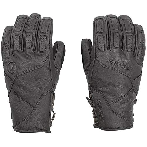 Volcom Men's Service Gore-Tex Stay Dry Leather Snow Glove, black Small
