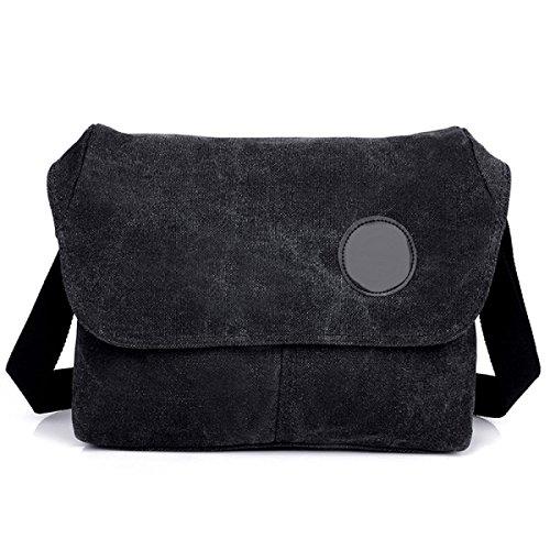 Männer Vintage-Leinwand Messenger Aktentasche Schulter Tote Sling Multifunktions Tasche,C-OneSize