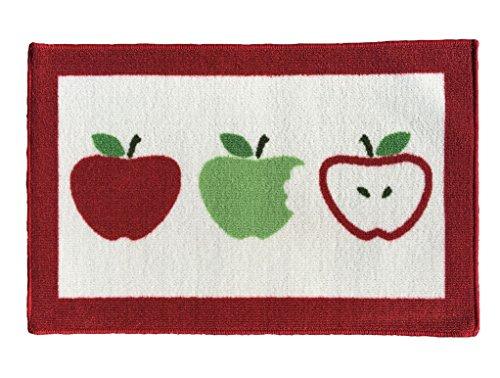 Gourmet Club Anti-Slip Printed Kitchen Rug 18-Inch by 28-Inch, Three Apples