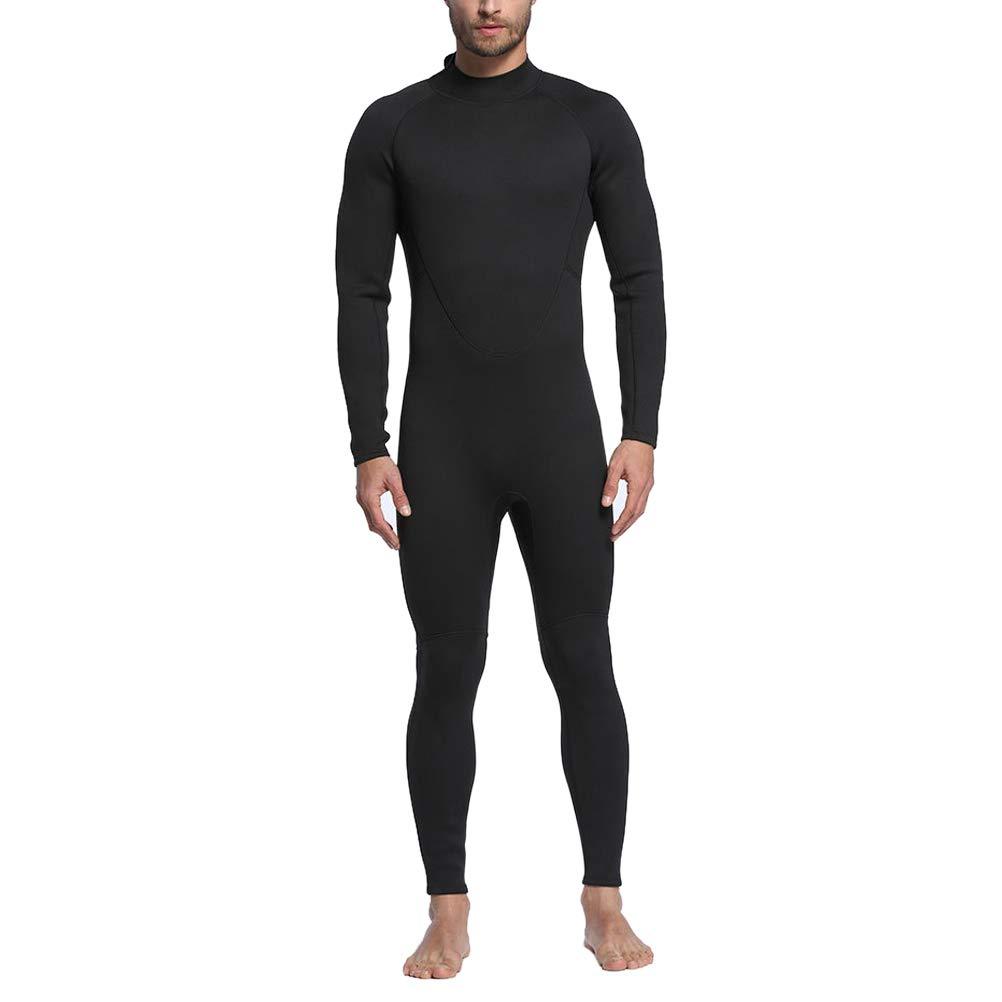 VORCOOL 2mm フルボディ 暖かいウェットスーツ 長袖 ネオプレン ダイビングスーツ シュノーケリングスキューバダイビングサーフィン用 - メンズサイズ XL