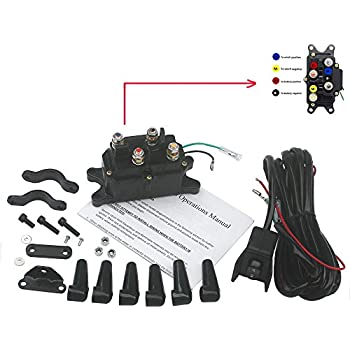 Amazon.com: KIPA Winch Solenoid Relay 12V 250A for ATV UTV SUV Jeep on atv horn wiring diagram, atv contactor wiring diagram, atv wiring harness diagram, atv starter diagram,