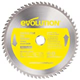 9 in saw blade - Evolution Power Tools 230BLADESS Stainless Steel Cutting Saw Blade, 9-Inch x 60-Tooth