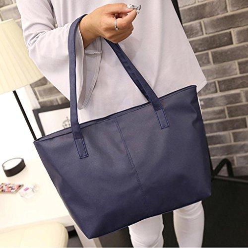 Hot Tote Women Clearance Tote Bags Beach Bag Shoulder Dark Waterproof Celebrity Bag Stylish Blue Leather Nylon Sale Ladies Travel JYC Shoulder Purse qB0UnwBIr