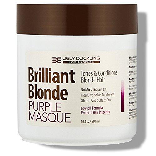 - Brilliant Blonde Purple Mask 16.9 oz (500 ml). Tones & Conditions Blonde Hair. Low pH Formula, Sulfate Free, Gluten Free
