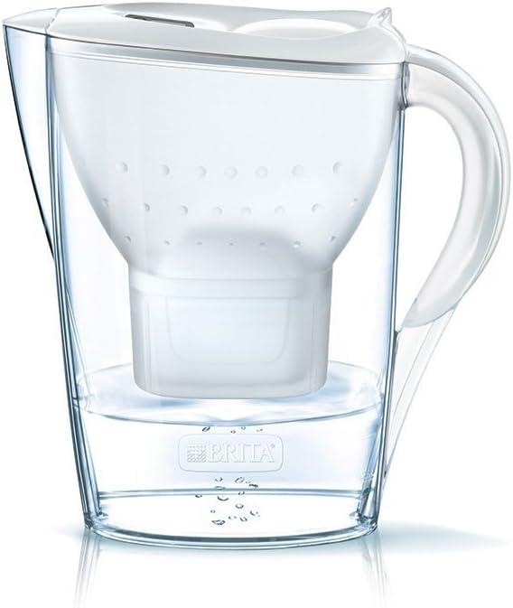 BRITA Marella – Jarra de Agua Filtrada con 1 cartucho MAXTRA+ – Filtro de agua BRITA que reduce la cal y el cloro – Agua filtrada para un sabor excelente – Filtro