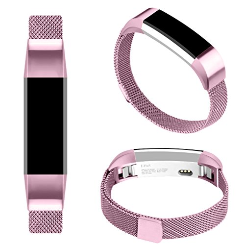 Fitbit Alta HR Band/Alta Band, Vancle Fitbit Alta Accessories Replacement bands Metal Wristband Band Strap with Magnetic Closure Clasp for Fitbit Alta HR/Fitbit Alta