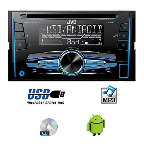 JUST SOUND best choice for caraudio Einbauset f/ür Dacia Lodgy 2DIN JVC KW-R520E 2DIN Autoradio Radio