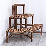 ALUS- Corner Corner Anticorrosive Flowerpipes Pastoral Wind Three - tier Corner Stairs Multi - solid Wooden Floor