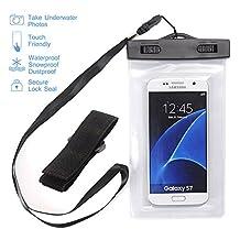 "NOKEA Universal Waterproof Case, Dry Bag for Apple iPhone 7, 6S, 6, 6S Plus, SE 5S 5C, Samsung Galaxy S7 Edge, S7, S6, S5, S4, Note 5 4, HTC LG G5, G4, Sony Nokia Motorola up to 6.0"" diagonal (White)"