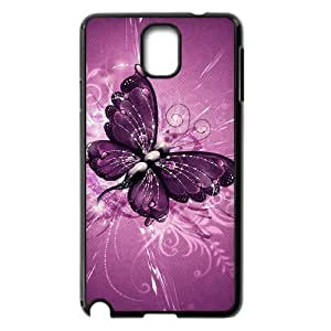 LZHCASE Diy Case Butterfly For samsung galaxy note 3 N9000 [Pattern-1]