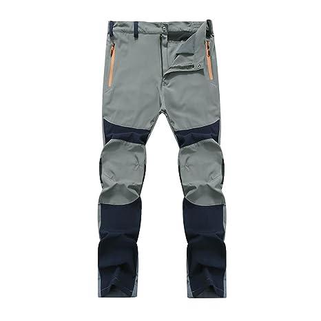 Pantalones de Trekking Hombre Pantalones de Softshell Pantalones Transpirable de Escalada Pantalones Impermeable Deportes Calentar Invierno Grueso Táctico ...