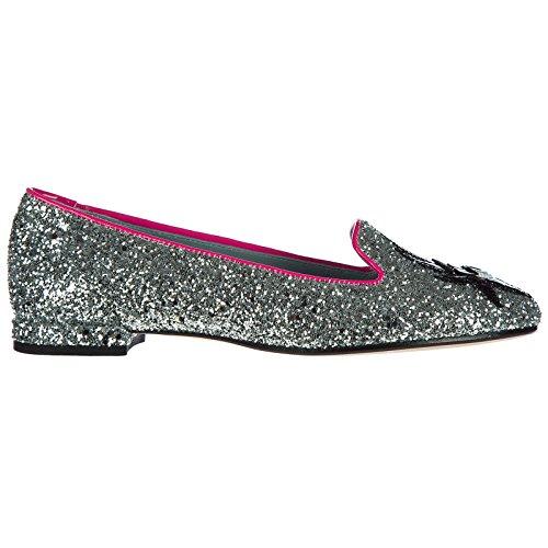Ferragni Glitter Bailarinas Bailarines Chiara Plata Mujer 7vwZwq