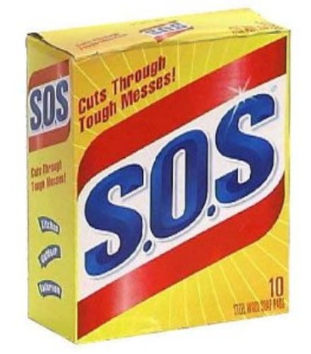 S.O.S 98014 Steel Wool Soap Pad (10 Count) Clorox 98032