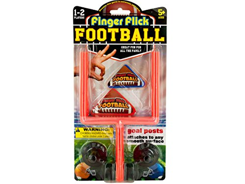 Rhode Island Novelty Finger Flick Football Game, Black/Red