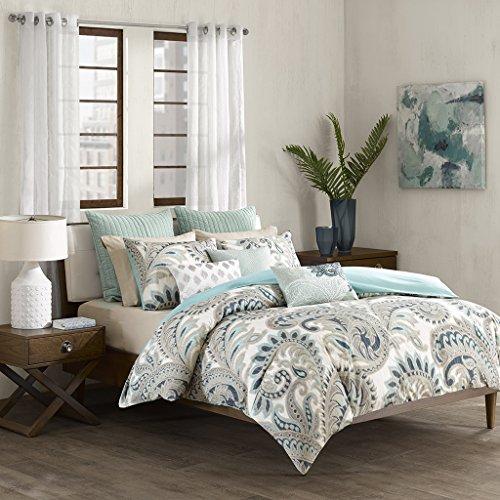 Ink+Ivy Kiran Cotton Fashion Cotton Throw Pillow, Casual Embroidered Oblong Decorative Pillow, 12X18, Blue (Amazon Decorative Pillows)