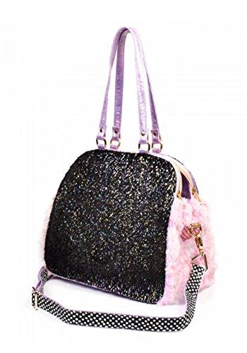 Irregular Choice What A Hoot Owl Love Faux Fur Novelty Handbag (One Size, Black & Pink) by Irregular Choice (Image #2)