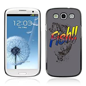 YOYOSHOP [Cool Bass Fish Illustration] Samsung Galaxy S3 Case