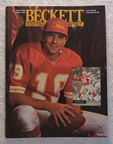 Joe Montana joins the Kansas City Chiefs - Beckett Football Card Monthly Magazine - #40 - July 1993 - Back Cover: Walter Payton (Chicago Bears) Beckett Football Magazine Cover
