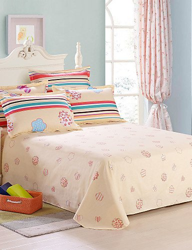 ZQ Personality style Sweet Love, Full Cotton Reactive Printing Cartoon Bedding Set 4PC, Queen King Size , silvery