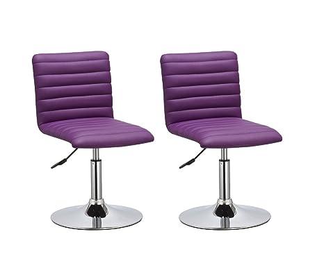 Set Da Scrivania Viola : Duhome 0209 set di 2 sedie da sala da pranzo in similpelle