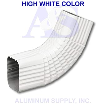 Aluminum Downspout Elbow 3 X 4 Type B 75 Degree Elbow High White Color Amazon Com Industrial Scientific