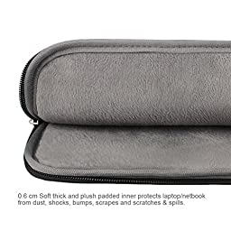 Arvok 17 17.3 Inch Water-resistant Canvas Fabric Laptop Sleeve With Handle Zipper Pocket/Notebook Computer Case/Ultrabook Tablet Briefcase Carrying Bag For Acer/Asus/Dell/Lenovo/HP/Samsung/Sony, Black