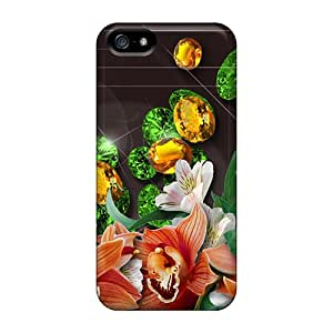 Iphone Case - Tpu Case Protective For Iphone 5/5s- Emeralds Topaz Blooms