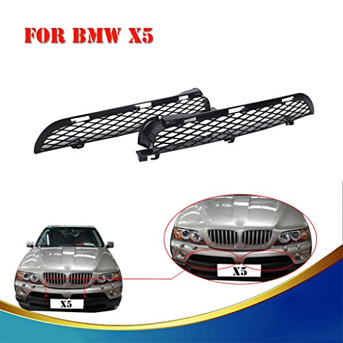 Jade Front Grille Upper Bumper Mesh Grill For BMW X5 E53 LCI 2003-2006 -