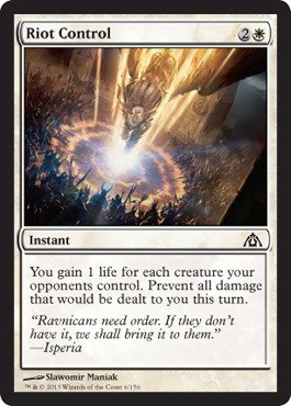 Magic: the Gathering - Riot Control (6) - Dragon's Maze - Foil -