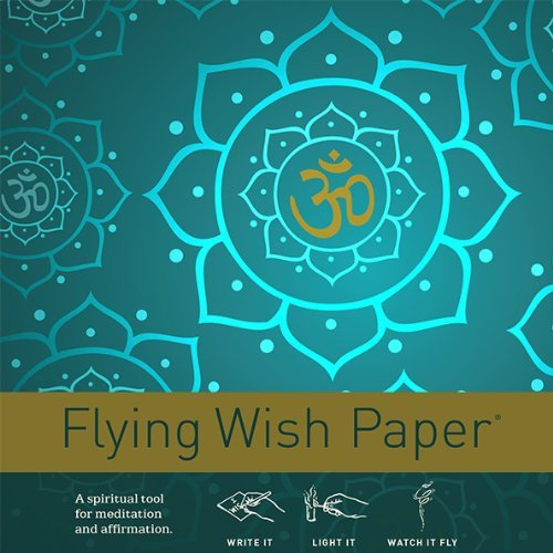 - Flying Wish Paper Golden Om