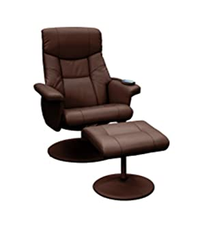 massage chair and footstool. supra swivel recliner reclining chair \u0026 footstool with massage - brown and