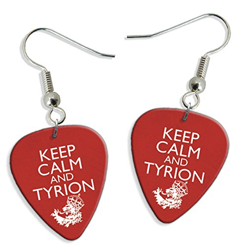 (Keep Calm And Tyrion Thrones 2 X Guitar Pick Earrings (GD))