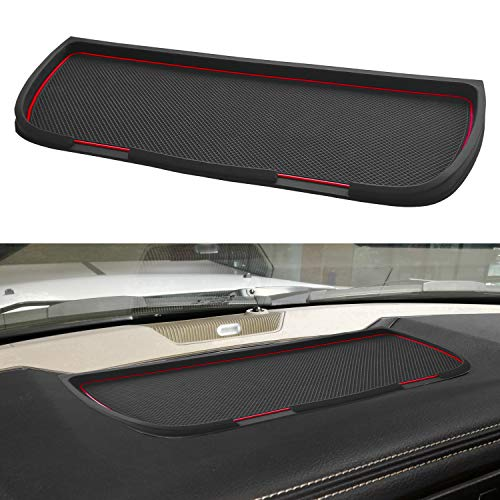 Auovo Non-Slip Dashboard Mats Cover Soft Tray Car Dash Rubber Pad Mat for Dodge Ram Pickup 1500 2500 3500 2011-2018 Accessories Holds Cell Phones Keychains Sunglasses Coins (Red,1 PCS)