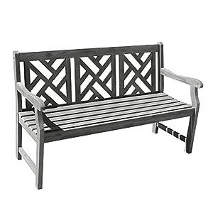 Vifah V1302 Renaissance Outdoor Hand-Scraped Hardwood Bench