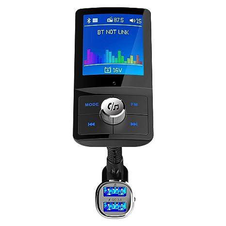 Amazon.com: FairOnly - Cargador de coche con pantalla LCD a ...