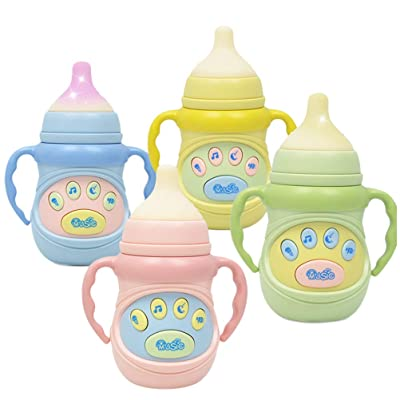 STOBOK Baby Music Feeding Milk Bottle Toys Light Electronic Feeding Bottle with Music and Light: Home & Kitchen