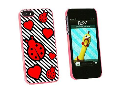 Graphics and More Ladybug Love Snap-On Hard Protective Case for iPhone 5/5s - Non-Retail Packaging - Pink
