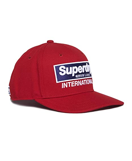 Superdry International B-Boy - Gorra, Talla única, Rojo: Amazon.es ...