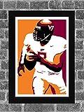 Virginia Tech Hokies Michael Vick Portrait Sports Print Art 11x17