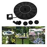 Solar Power Bird Bath Fountain, Mapletop Outdoor Water Fountain Pump For Pool, Garden, Aquarium