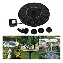 Solar Power Bird Bath Fountain, Mapletop Outdoor Water Fountain Pump For Pool, Garden, Aquarium
