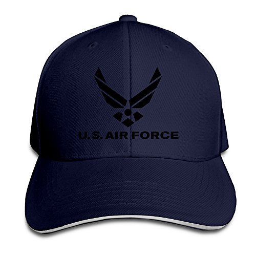 (U.S. Air Force Popular Gifts Solid Colors Caps Sandwich Bill Caps)