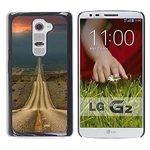 Ihec Tech Camino de la Libertad Sunset Drive Abrir / Funda Case back Cover guard / for LG G2