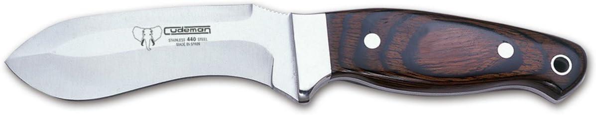 Cudeman Cuchillo deshuesador 223-R con Mango de estamina Hoja de 11 cm con Funda de Cuero Color marrón. Unidad en Liquidación