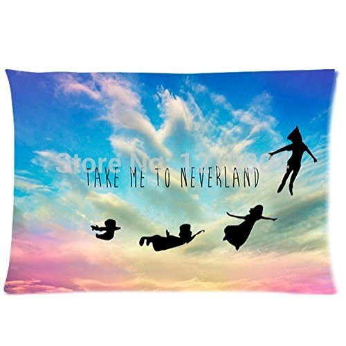 Soul Survivor Decorative Pillow Case Peter Pan Take Me To Neverland Pillow Cases For Beds 20X30(Two Sides) (Peter Pan Pillowcase compare prices)