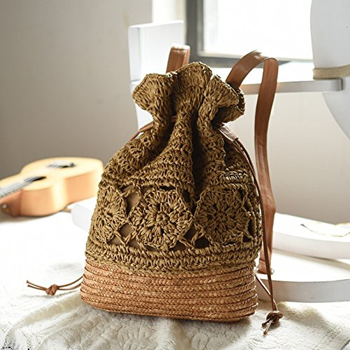 Mackur Crochet de Cordon Sac Serrage Paille Tissage Vintage 4vqCwp