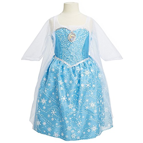 Disney Frozen Elsa Musical Light Up Little Girls Dress, Size 7-8]()
